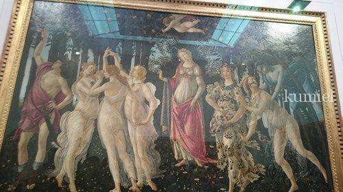 フィレンツェ ウッフィッツィ美術館ボッティチェリ作春