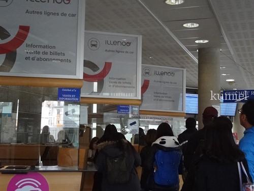 レンヌ駅バスインフォメーション
