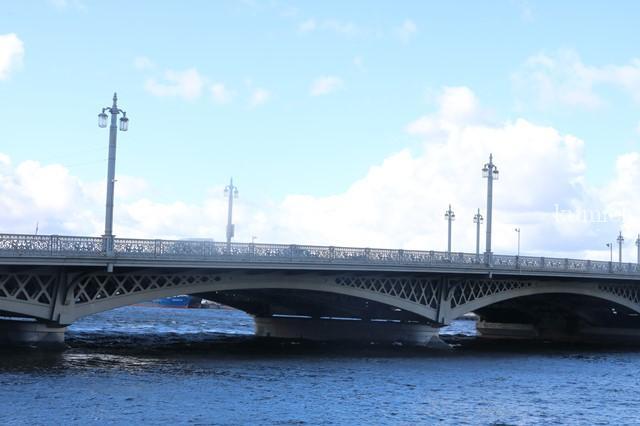 サンクトペテルブルグ ネヴァ川 ブラゴヴェシェンスキー橋